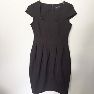 ASOS black cap sleeve dress
